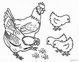 Coloring Farm Pages Animals Animal Printable sketch template