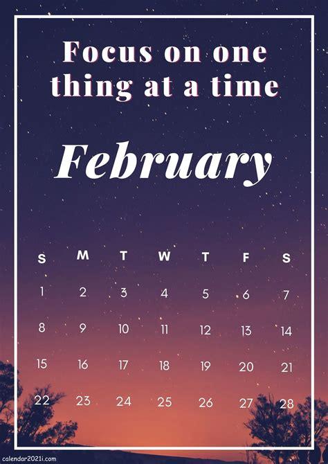 inspirational february  calendar  quotes