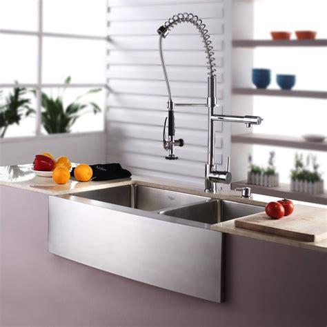 kitchen sink depths kraus khf20333kpf1602ksd30ch 33 inch farmhouse bowl 2660