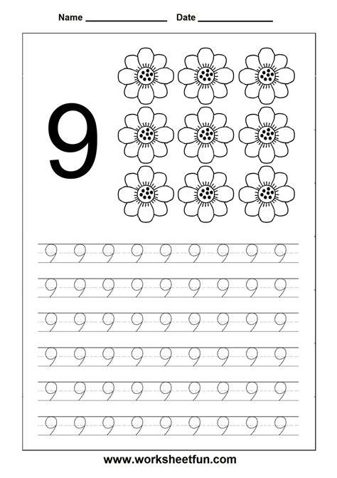 Homeschooling Number Tracing On Pinterest  Worksheets, Math Worksheets And Preschool Printables