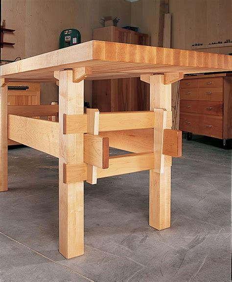 wedged base workbench