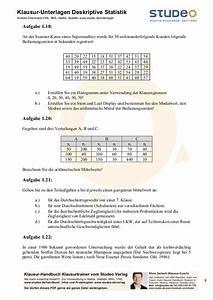 Häufigkeitsverteilung Berechnen : studeo aufgabensammlung deskriptive statistik ein merkmal ~ Themetempest.com Abrechnung