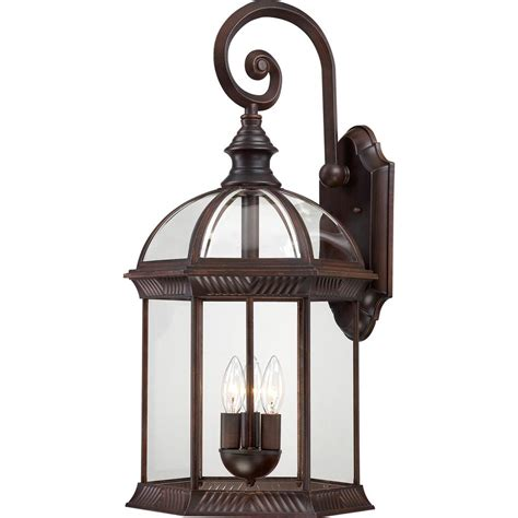 rustic lantern lights filament design 3 light rustic bronze outdoor wall mount 2066
