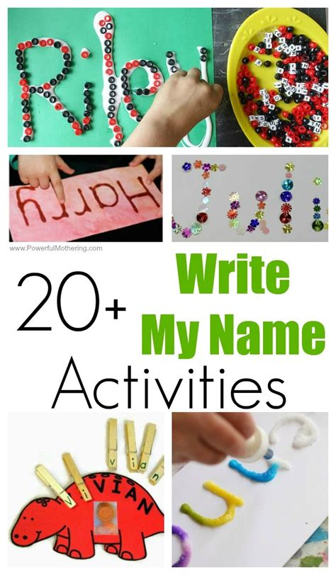 20 write my name activities for toddlers and preschoolers 977 | 20 write my name activities for kids 1 e1526215499491