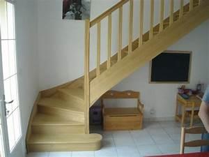 Escalier Bois Intérieur : escalier bois massif interieur blanc accueil design et ~ Premium-room.com Idées de Décoration