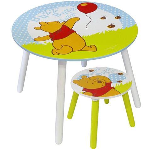 table winnie l ourson et chaise table et tabouret winnie l 39 ourson mobilier disney la fée du jouet