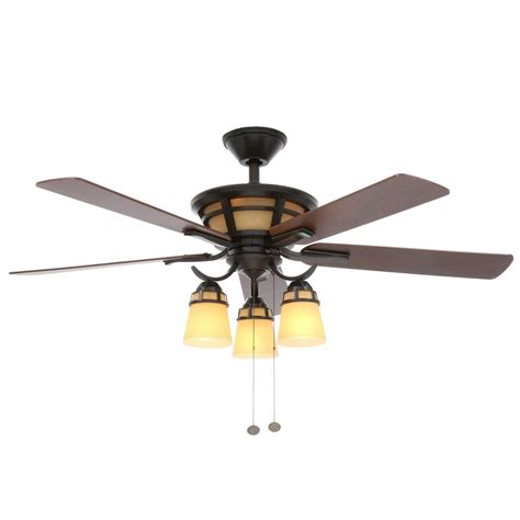 28 inch ceiling fan with light hton bay alicante 52 in indoor natural iron ceiling