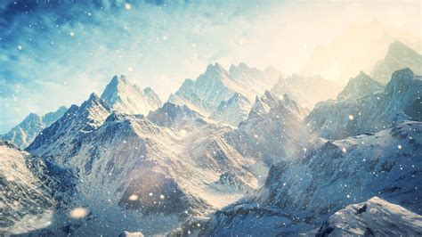 Mountains Background Snow Mountain Wallpapers Wallpaper Cave