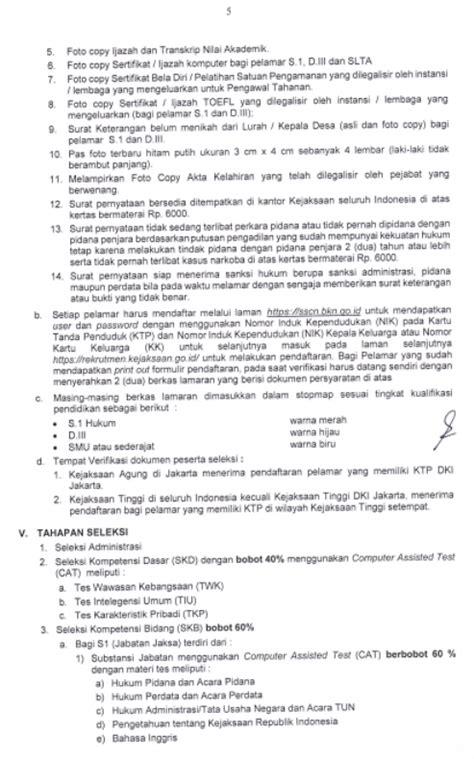 Surat Persyaratan Bersedia Ditempatkan Di Kejaksaan Agung by Rekrutmen Cpns Kejaksaan Agung Ri Tahun 2017