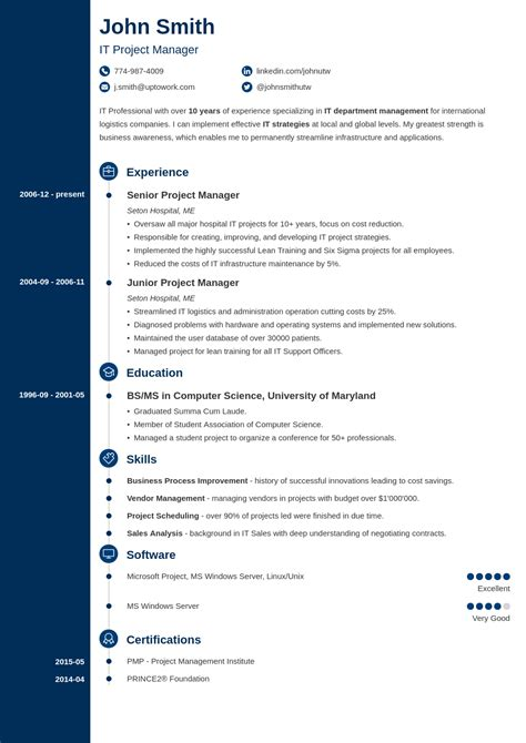 20 cv templates create a professional cv in 5
