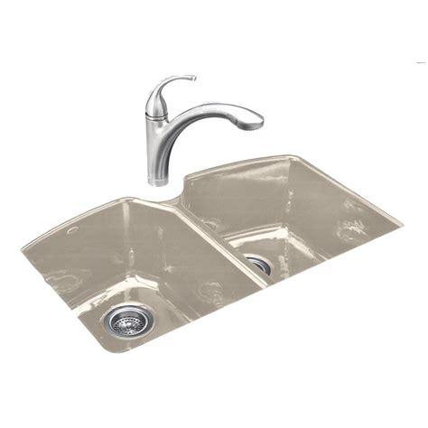cast iron undermount kitchen sinks kohler tanager undermount cast iron 33 in 3 8068