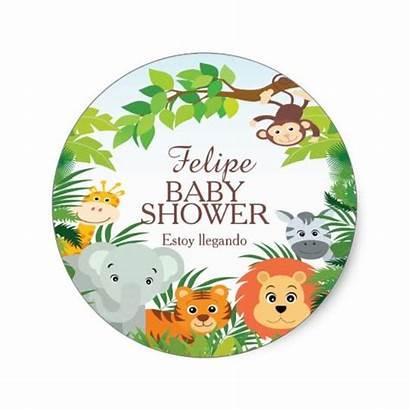 Safari Shower Sticker Jungle Selva Stickers Favor