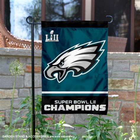 philadelphia eagles super bowl  lii champions garden banner