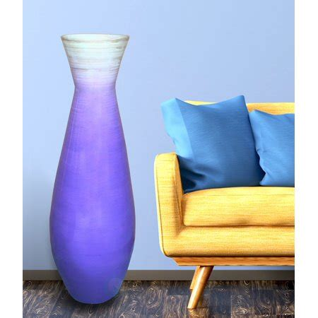purple floor vase 28 quot bamboo floor vase glossy purple walmart