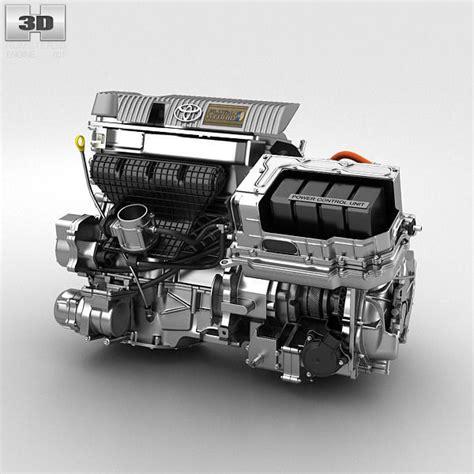 Hybrid Engine by Toyota Hybrid Engine 3d Cgtrader