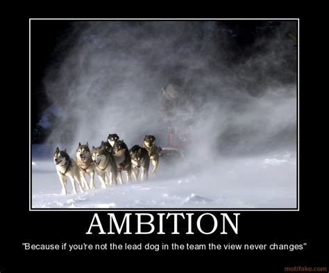 ambition carries me to success: The sign of strong ambition