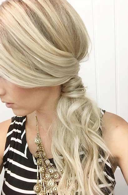 Fancy Side Ponytail Hairstyles by 21 Pretty Side Swept Hairstyles For Prom Wedding