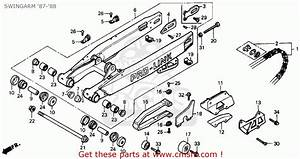 Honda Cr125r 1987  H  Usa Swingarm  U0026 39 87- U0026 39 88