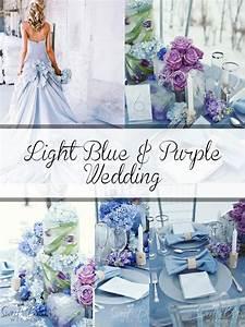 Light Blue And Purple Wedding Flowers | Bouquet Idea