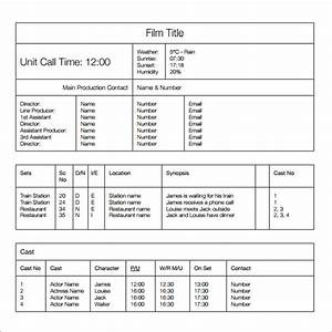 Phone Call Sheet Template 12 Sample Call Sheet Template To Download Sample Templates