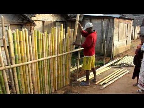 making  fence  bamboo   madagassian village youtube