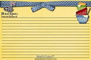 index card recipe book