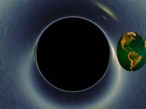 The Earth orbiting a black hole. : gifs