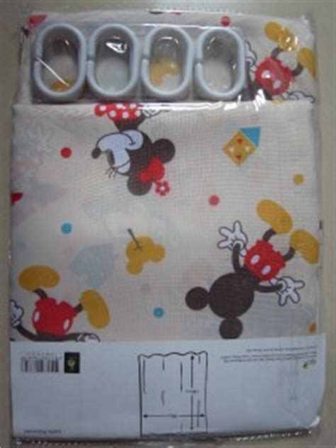 Mickey Mouse Bathroom Set Uk by Disney Mickey Mouse Minnie Mouse Polyester Shower Curtain