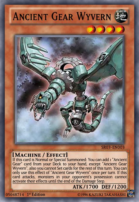 ancient gear wyvern yugioh ocg by yeidenex on deviantart