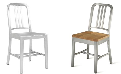 emeco navy chair seat pad emeco navy chair with wood seat hivemodern
