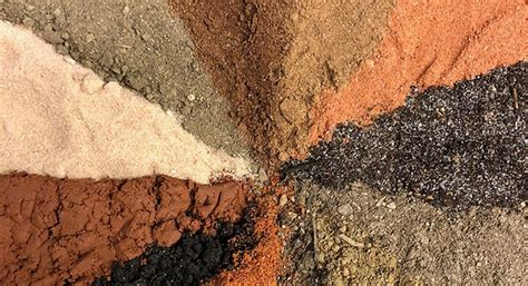 Photo of a range of different color soil samples
