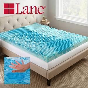 lane 4quot cooling gellux memory foam mattress topper with With cooling pillow top mattress topper