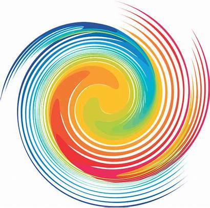 Spiral Swirl Rainbow Clipart Dye Tie Abstract