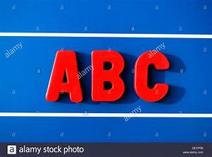 abc red magnetic letters blackboard stock photo royalty With red magnetic letters