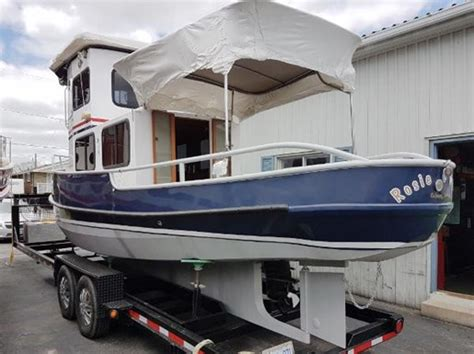 Steel Boat Trailer For Sale by Custom Steel 27 Tug With Trailer 2004 Used Boat For Sale