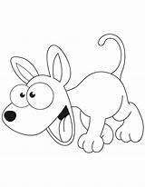 Coloring Dog Cartoon Pages Puppy Excited Poodle Printable Dogs Cute Popular Getcoloringpages sketch template