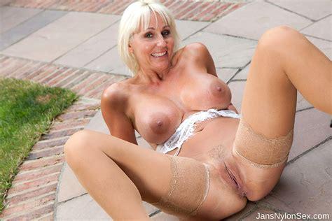 Babe Today Jans Nylon Sex Jan Burton Good Spreading