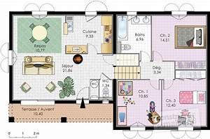 villa a energie positive detail du plan de villa a With maison a energie positive plan