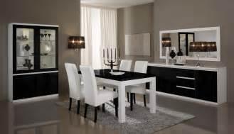 Salle A Manger Contemporain Monsieur Meuble by Table De Salle 224 Manger Design Laqu 233 E Blanche Et Noire