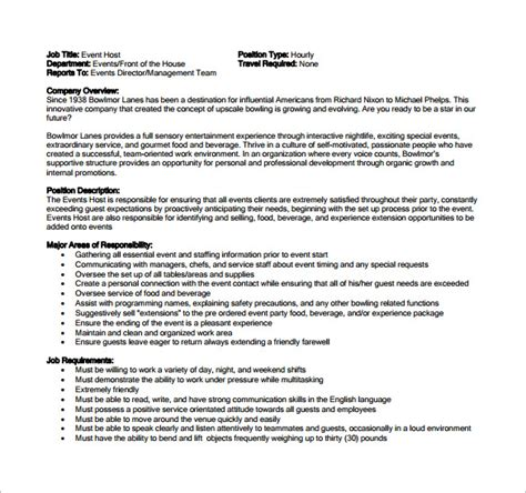 9+ Hostess Job Description Templates  Free Sample. Instant Resume Templates. List Of Skills For Resume. Leasing Agent Resume Example. Medical Secretary Resume Template. Medical Resume. Job Resume Definition. My Resume Sucks. Resume Format For Java Developer With 1 Year Experience