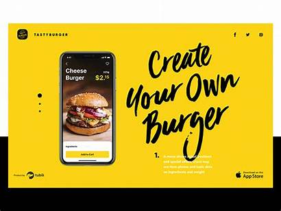 Burger Ui Study Case Tasty Mobile App