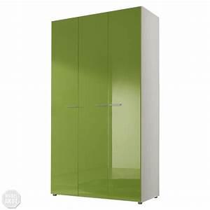 Kleiderschrank 120 Cm : kleiderschrank smart schrank schlafzimmerschrank kiwi gr n hochglanz wei 120 cm ebay ~ Indierocktalk.com Haus und Dekorationen