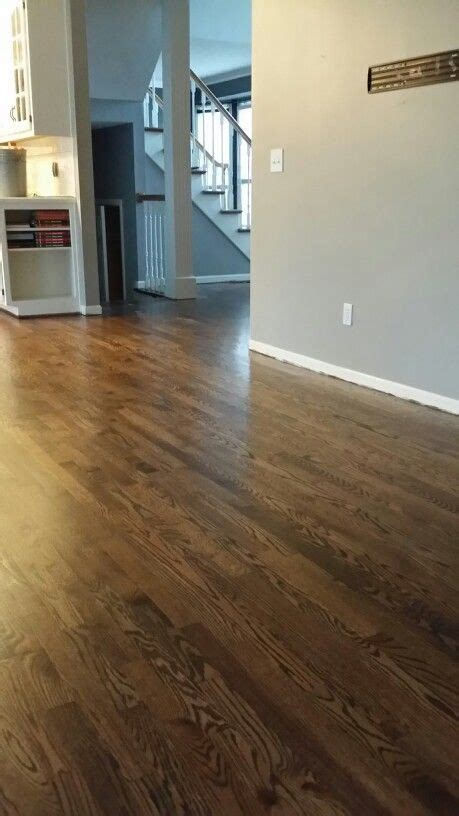 minwax dark walnut duraseal  satin polyon red oak red oak hardwood floors oak floor
