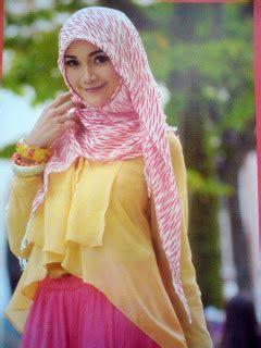 memakai pashmina cantik tutorial hijab