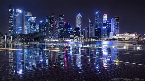night city lights widescreen images  cities