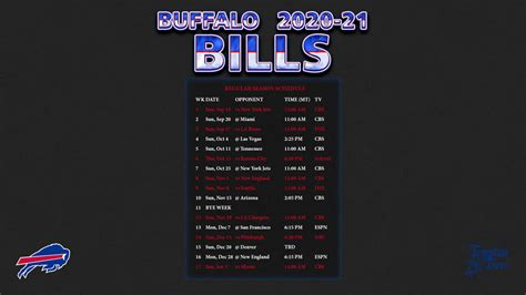 buffalo bills wallpaper schedule