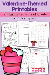 Valentine Worksheets For Kindergarten And First Grade  Mamas Learning Corner