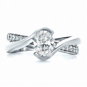 Custom interlocking engagement ring 1437 bellevue seattle for Interlocking wedding rings