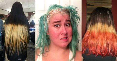 Dye Hair by 20 Times Failed At Dyeing Their Own Hair Thethings