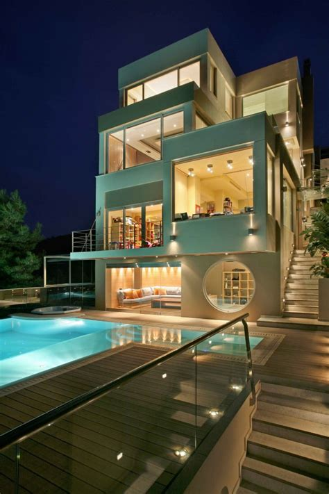 Modern Villa, Greece Most Beautiful Houses In The World